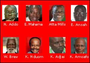 The eight men seeking to lead Ghana